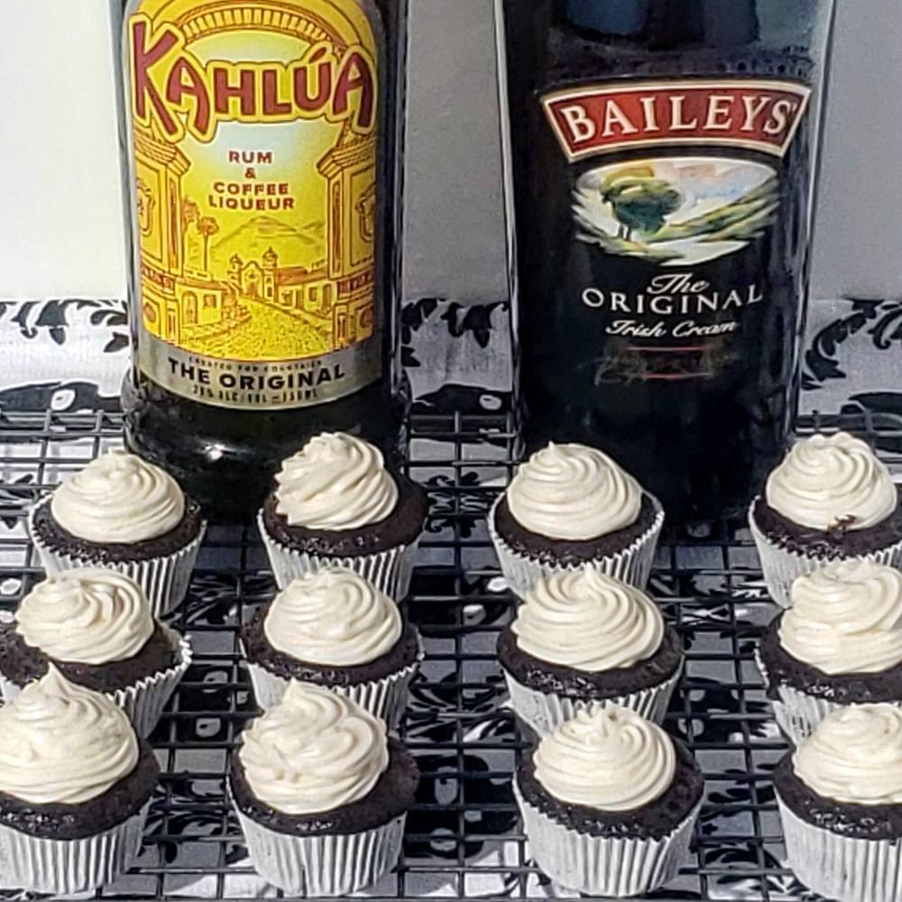 Baileys and Kahlua Chocolate Cupcakes